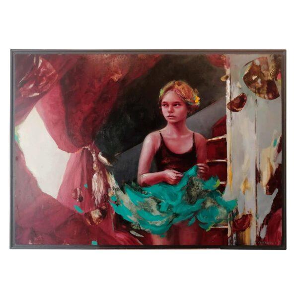 130×145 Oleo en Madera original