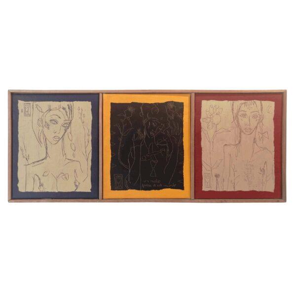 62×90 oleo en tela enmarcado en madera