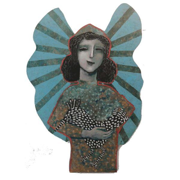 Escultura Acrilico en Madera 35×60